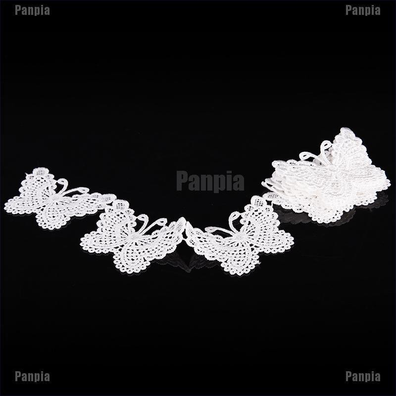 1yd Butterfly Lace Ribbon Embroidered Trim Vintage Wedding Sewing Applique Craft