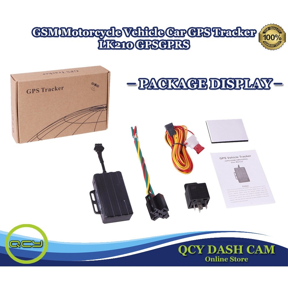 GSM Motorcycle Vehicle Car GPS Tracker LK210 GPS GPRS