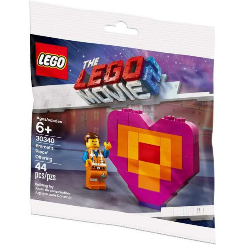 Lego Movie 2 Emmet/'s Piece Offering Polybag 30340 Valentines New Factory Sealed