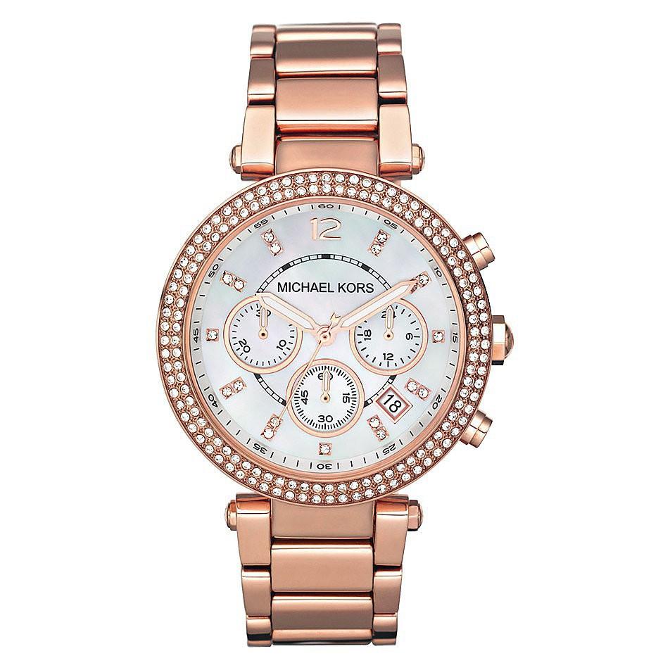 5b3163b27e766a Michael Kors Parker Dial Signature MK Word Watch MK5865 | Shopee Philippines