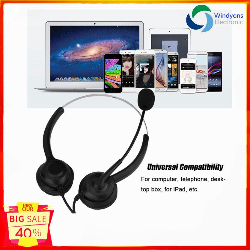 Usb Headset Noise Cancelling Call Headset With Microphone Shopee Philippines