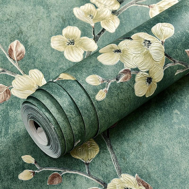 IDA Wallpaper 10M*45CM PVC Self adhesive Waterproof Floral ...