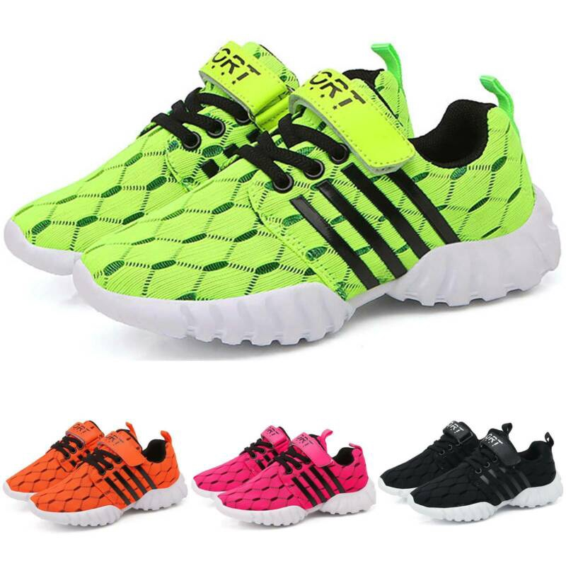 Kids Girls Running Trainers Childrens Glitter Sports Comfy Lace Up Shoes Size