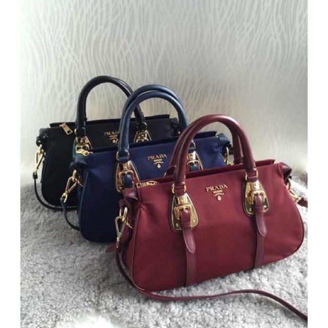 385699e21c5d Top quality PRADA BAULETTO TESSUTO SOFT CALF BAG BN1903 | Shopee Philippines