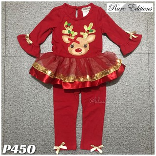 Rare Editions Christmas Toddler.Rare Edition Baby Toddler Kids 2pc Christmas Reindeer Outfit