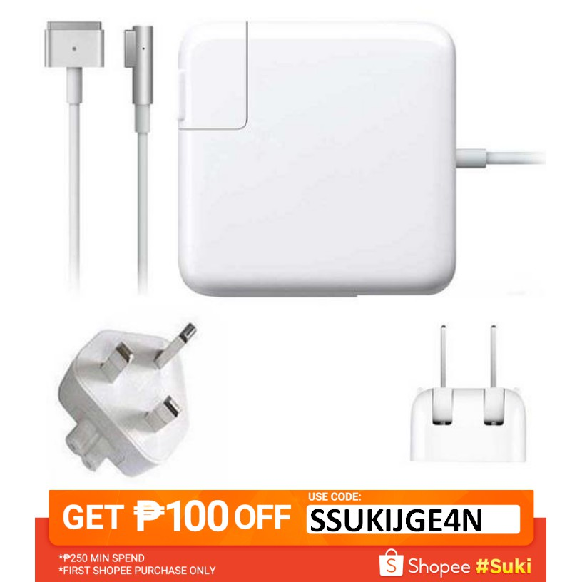 MagSafe/MagSafe2 L/T-Tip 45W/60W/85W Power Adapter Charger