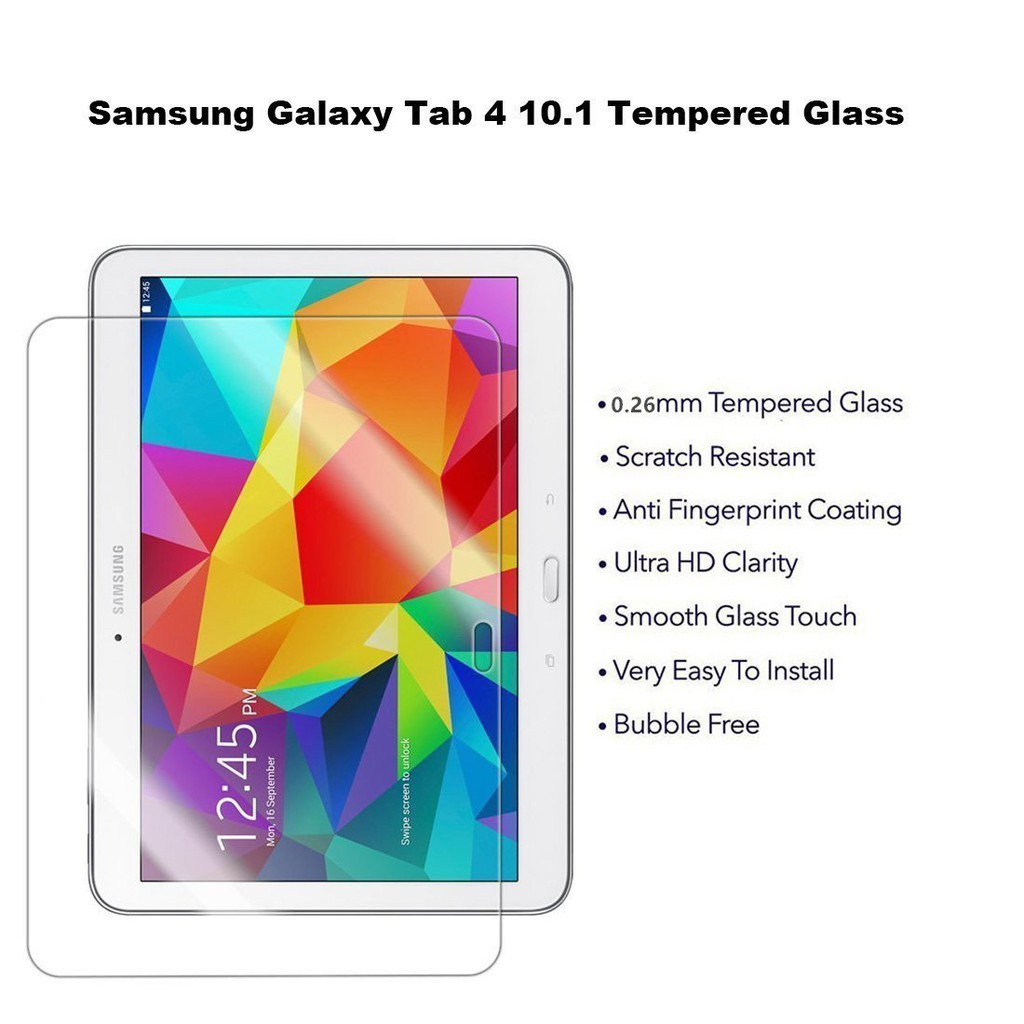 For Samsung Galaxy Tab 4 10.1 Tempered Glass Screen Protector SM T530 T531 T535