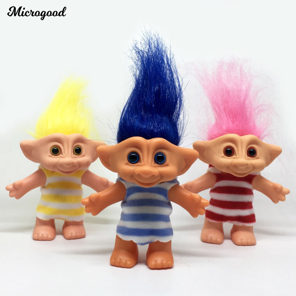 "Random vintage trolls Lucky Doll Mini Figures Toy 1/"" cake toppers 5Pcs//lot"