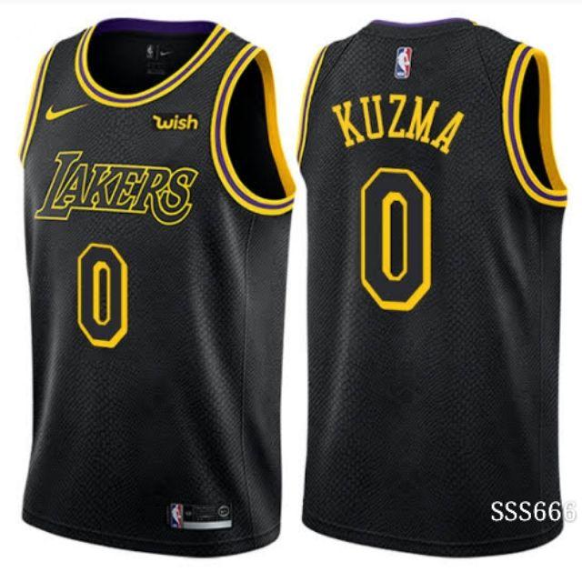 04f73545bd91 NBA jersey replica lakers Kyle kuzma Black mamber Jersey
