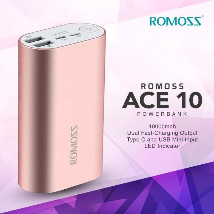 Romoss ACE10 10000mah Metallic Powerbank