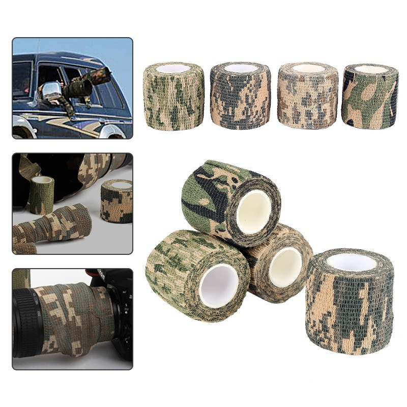 1PCS Camouflage Wrap Rifle Gun Hunting Waterproof Camo Stealth Wide Duct Tape