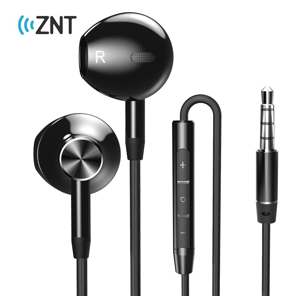 ZNT R669-A Half in-Ear  HIFI Sound TPE Wired Earphone