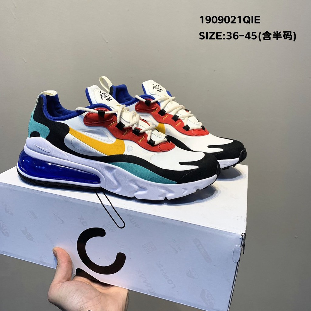 Original Nike shoes male AIR MAX 270 REACT color stitching sports air cushion shoes running shoes