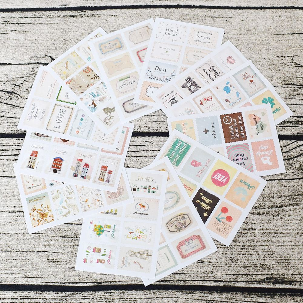 Gentle 46pcs Flower Series Paper Sticker Diy Diary Decor Album Scrapbooking Flower Stickers Stationery School Supplies Sales Of Quality Assurance Stationery Stickers
