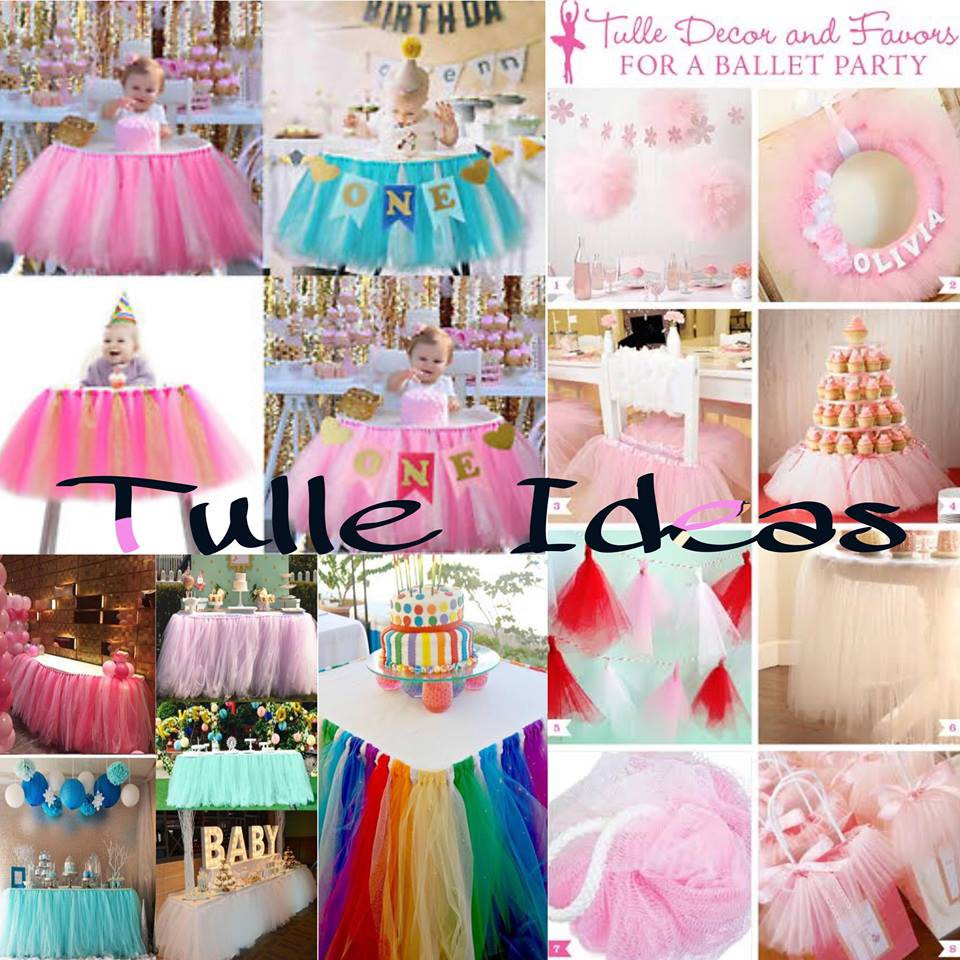 c2324da83e TABLE SKIRT 50yards tulle diy decor tutu | Shopee Philippines