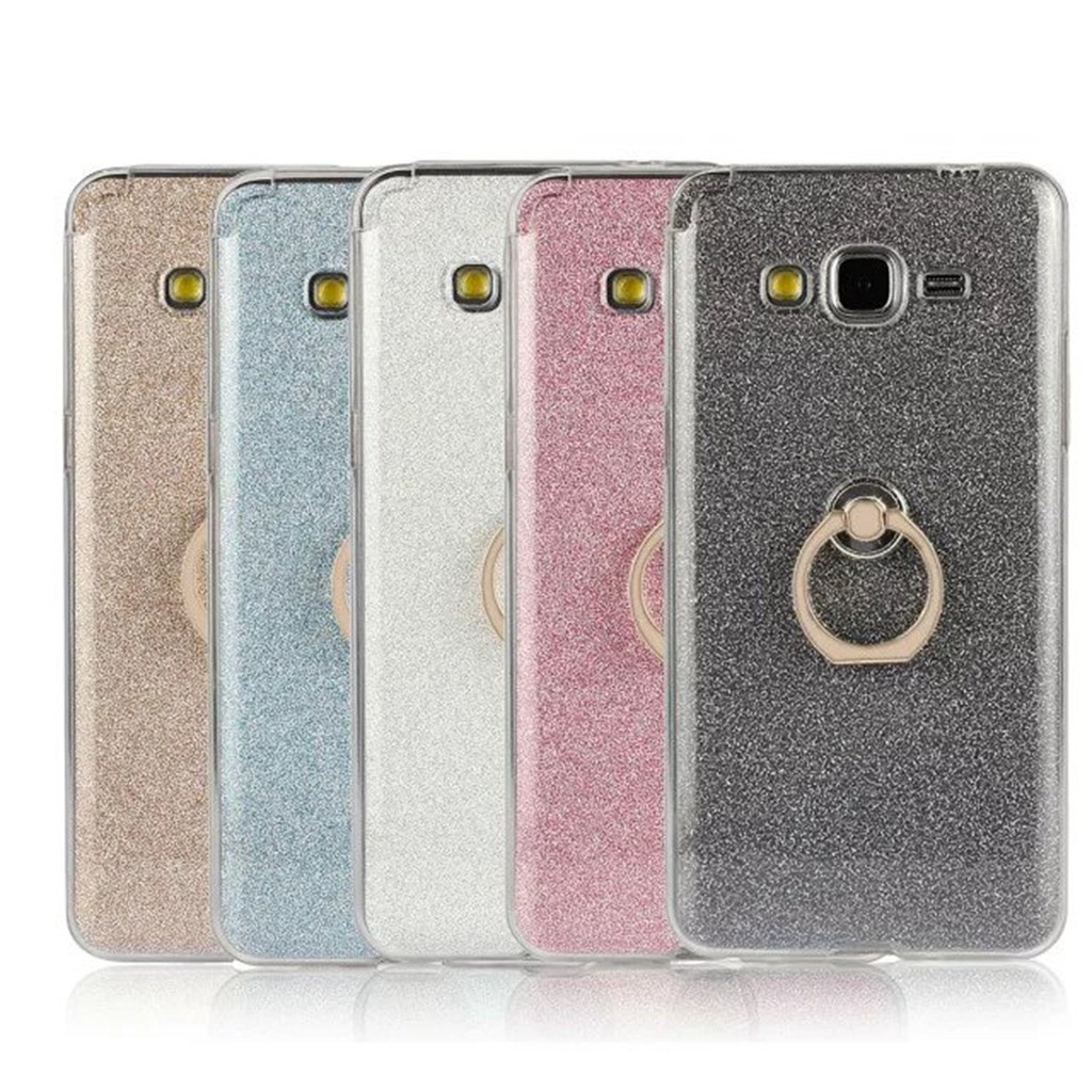 For Samsung Galaxy Grand Prime G530 Black Glitter Ring Silicon shockproof jelly Case