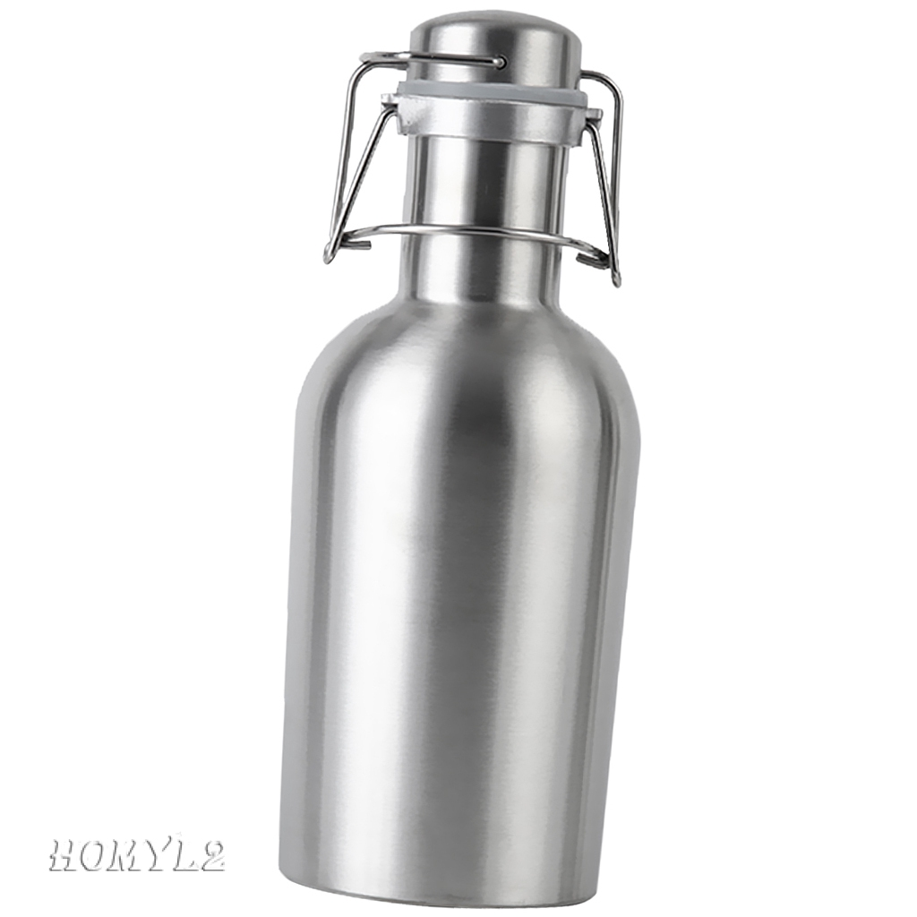 Portable Beer Growler Secure Swing Hip Flask Beer Brewing Making Bottle 2L