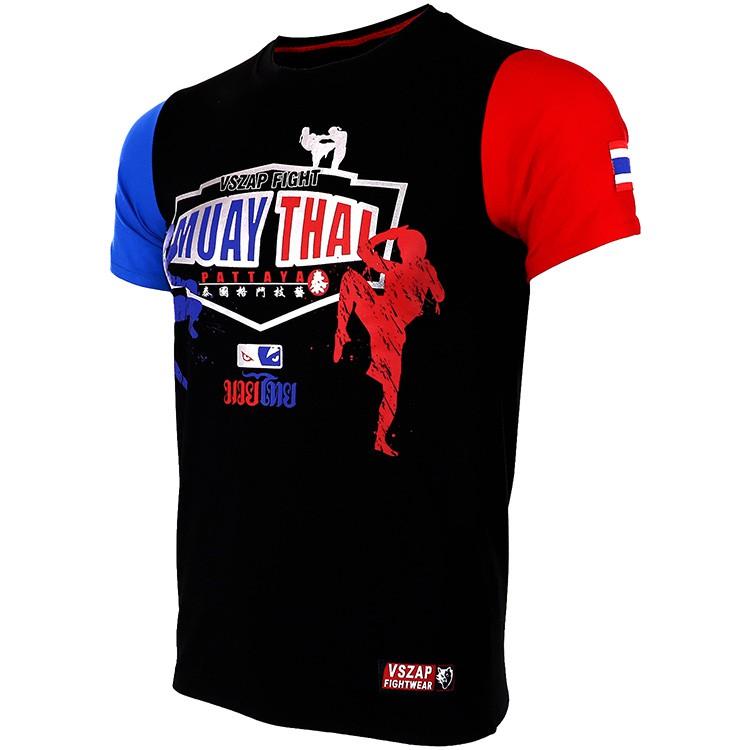 4da26563e34f4 fight MUAY THAI MUAY THAI combat short sleeve T-shirt broad | Shopee ...