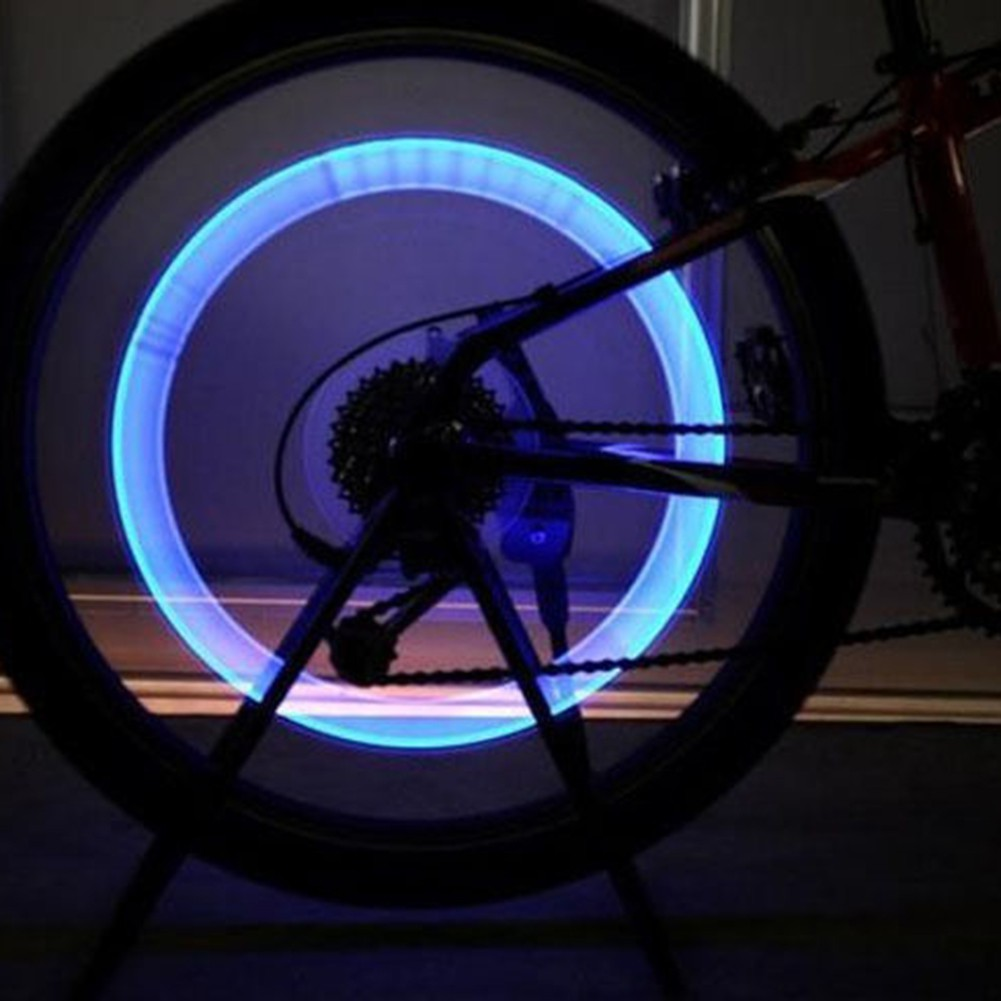 Red LED Motorcycle Cycling Bike Bicycle Wheel Tire Valve Flash Light Lamp