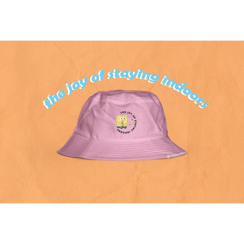 Y2k Reversible Aesthetic Bucket Hat In Pastel Blue Pastel Pink Shopee Philippines