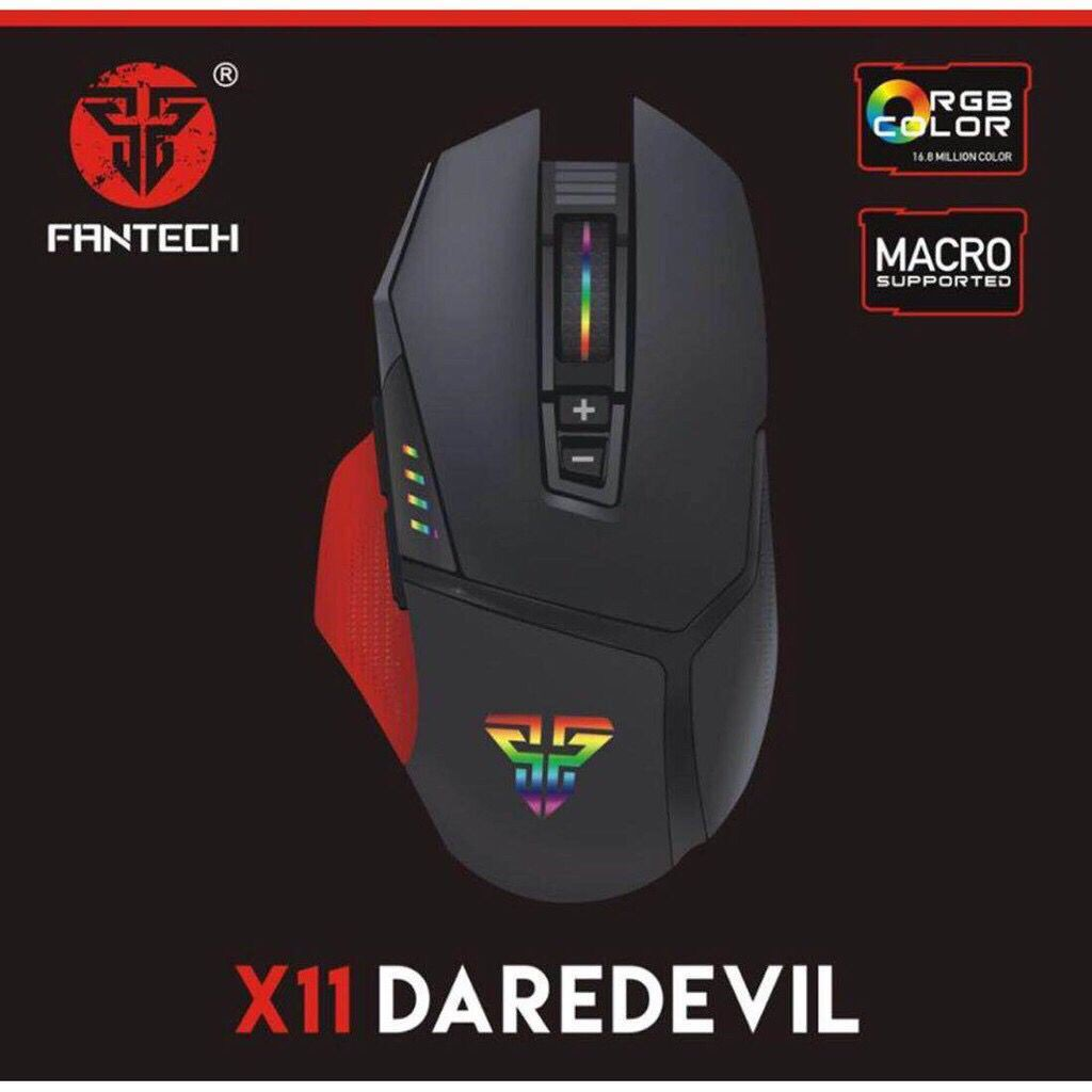 17af2ce8d45 Original Fantech X11 Daredevil Macro RGB Gaming Mouse | Shopee Philippines