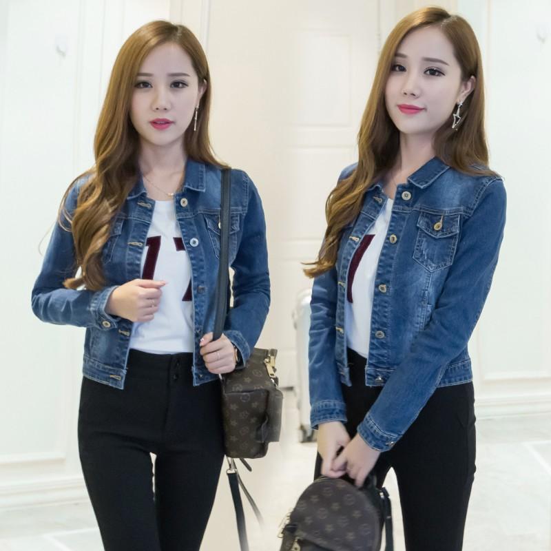 Fashion Women Ladies Jean Denim Jacket Outwear Long Sleeve Short Coat