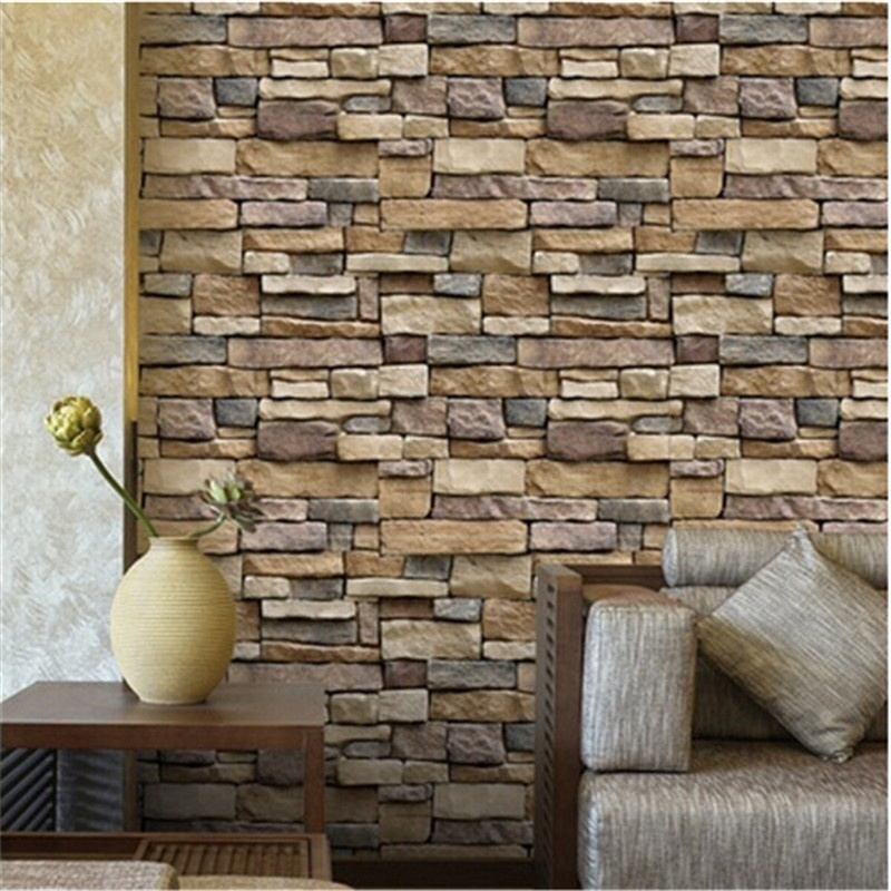 3D Wall Stickers Brick Decorative Wallpaper Tile for ...
