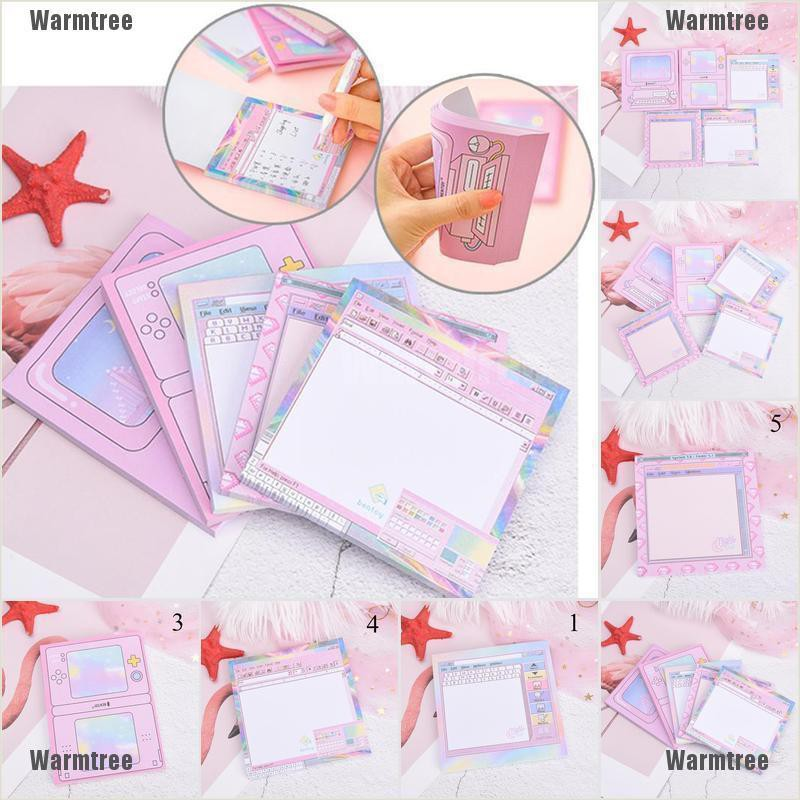 Creative Computer System Shape Memo Pad Diy Diary Notes Sticky Household Items