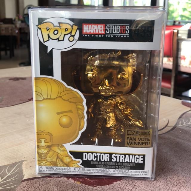 Figura Funko Pop Marvel 439 Marvel Studios 10 Doctor Strange Gold Chrome