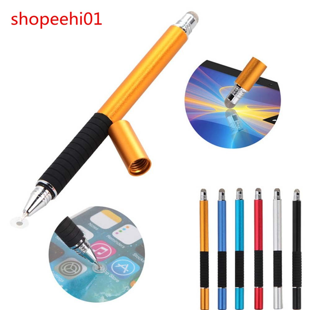 10 Silver 2-in-1 Touch Screen Stylus Ballpoint Pen iPad iPhone Smartphone Tablet