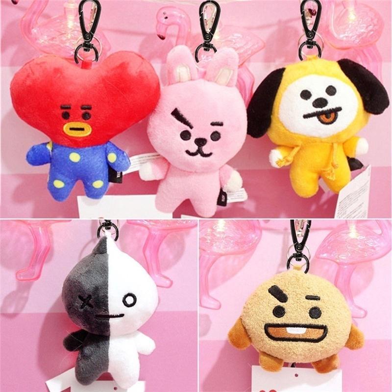 Stuffed Animals & Plush Kawaii Cartoon Bt21 Plush Keychain Kpop Bts Bangtan Boys Accessories Army Fans Gifts Toys Pendant Bag Rope Card Cover Doll Ring
