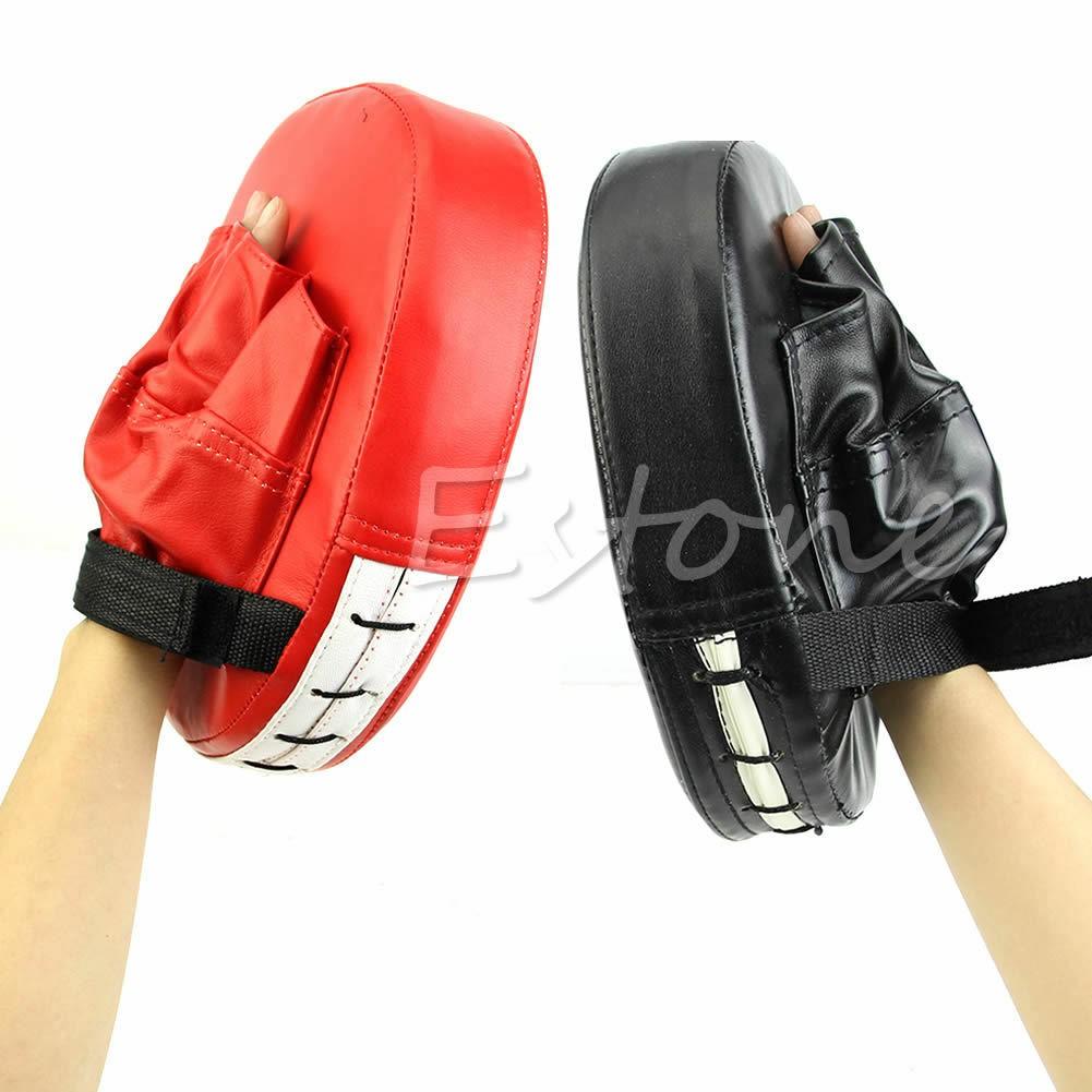 2x Boxing Mitt Training Focus Target Punch Pad Glove MMA Karate Combat Thai Kick