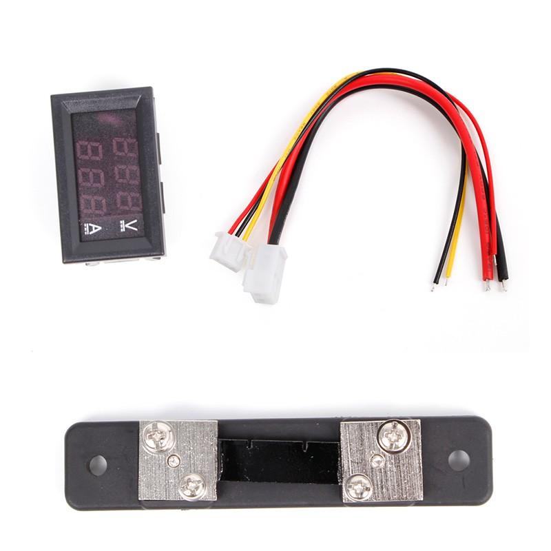 0 100v 50a Red Blue Digital Voltmeter Ammeter 2in1 Dc Volt Amp Meter W Shunt Shopee Philippines