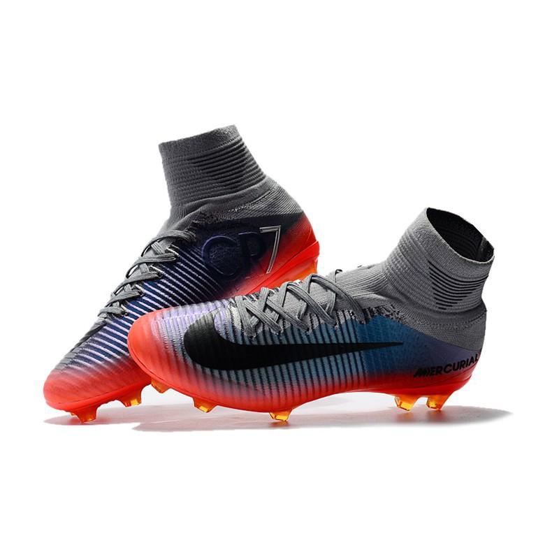 on sale 05a6e d7d50 Soccer Nike Mercurial Superfly V CR7 men football shoes FG