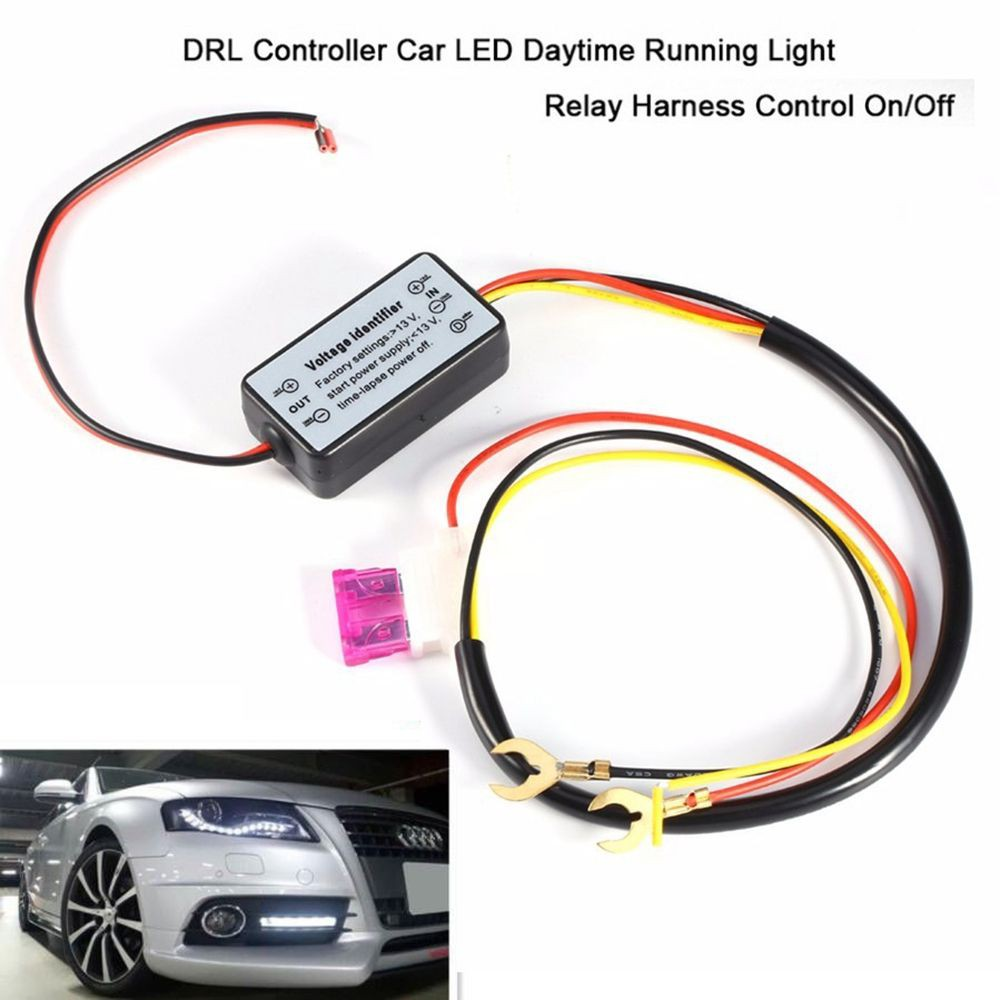 New 1pcs Daytime Running Led Light Controller Led Car Light Delay Control Harness Smart Intelligent Controller Time Delay Cable Electric Vehicle Parts