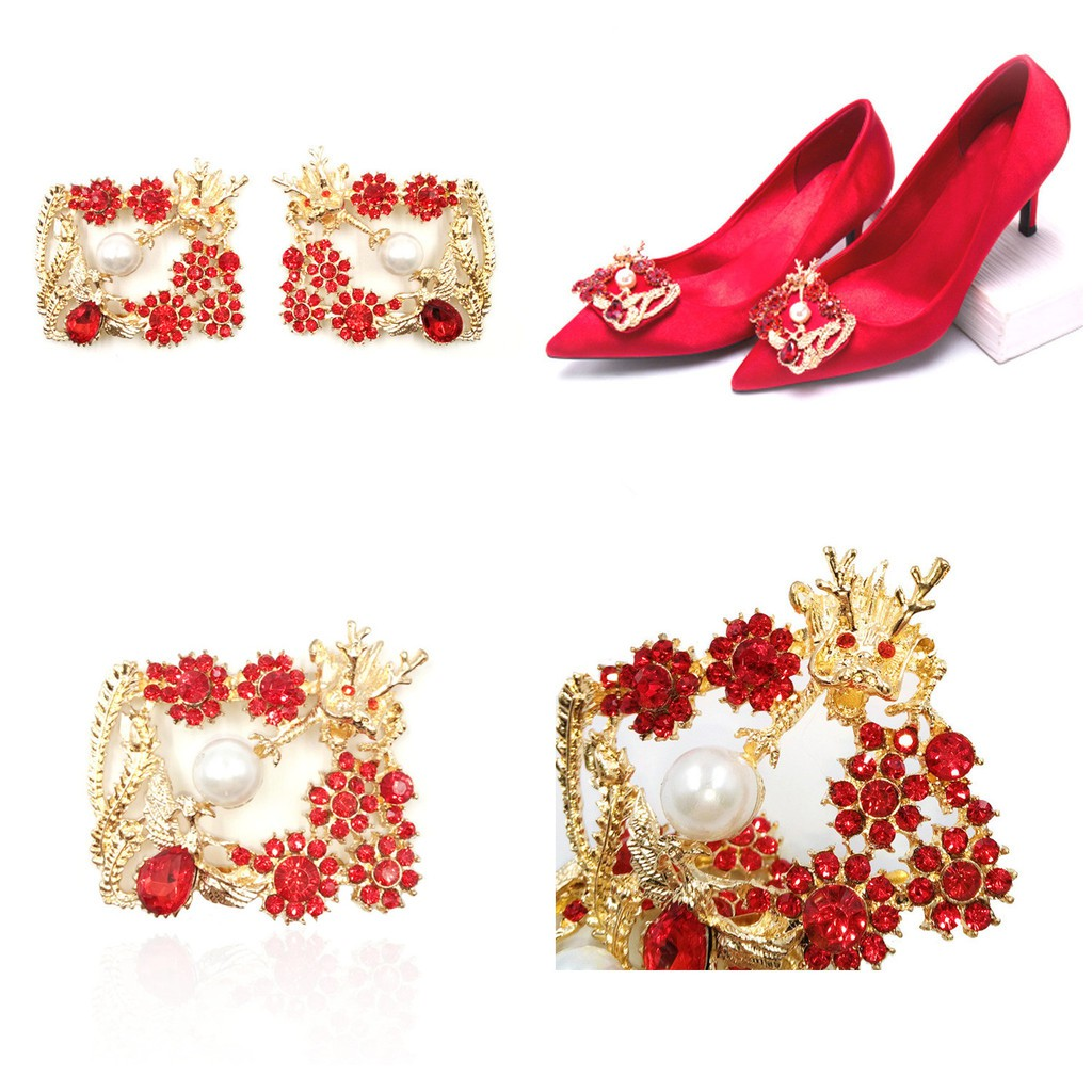 824a8661c5a01 Shoe Buckle Flower Shoe Clips for Wedding DIY