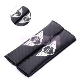 Pair of 2x Mini cooper seat belt shoulder pads covers buckle baby safety cushion