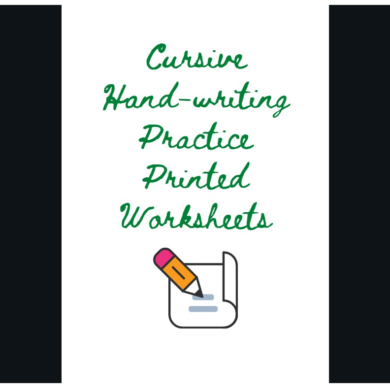 Cursive Hand-writing Practice Printed Worksheets Shopee Philippines
