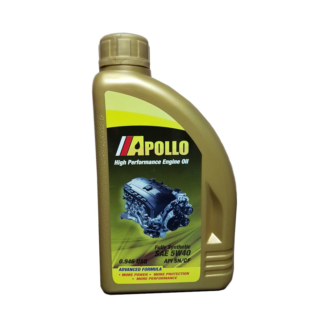 Apollo Diesel/Gas Fully Synthetic SAE 5W40 Engine Oil (1L)