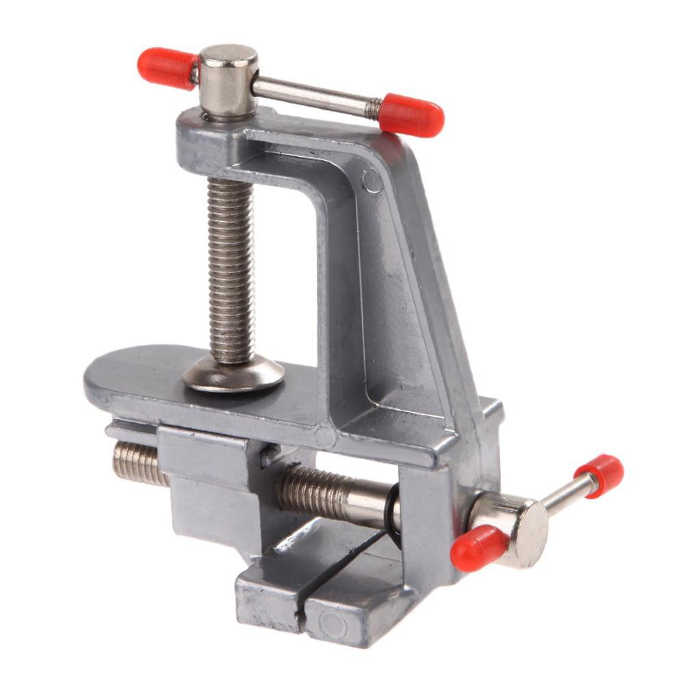 Aluminum Miniature Small Jewelers Hobby Clamp On Table Bench Vise DIY Tool Vice#