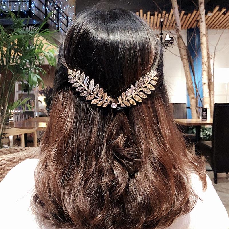 Back Holder Alloy Crystal Headbands Women Headwear Hair Jewelry Hair Rope