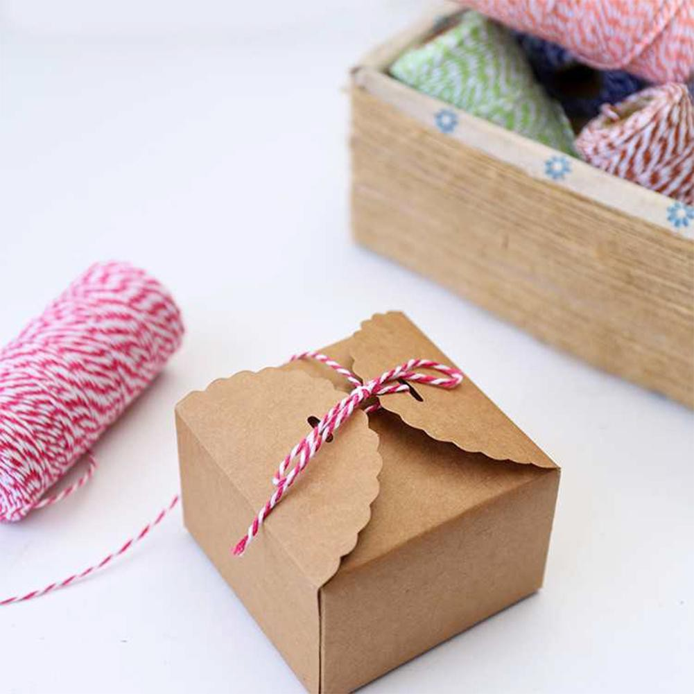 Crafts Scrapbook Wrapping Coloured Bakers Twine 12m roll blue and white