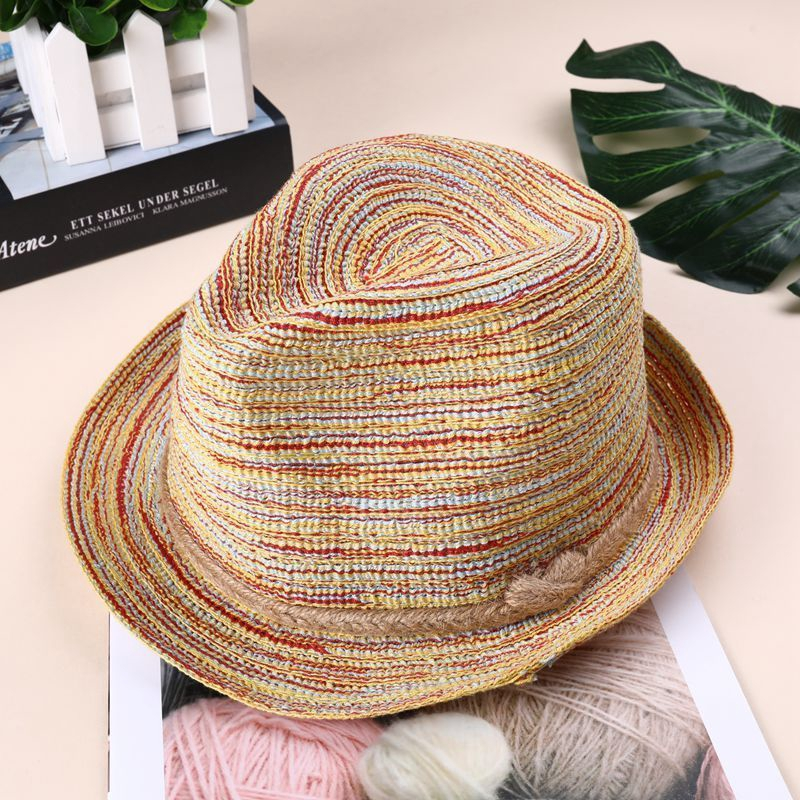 fa4fd16c2 Sunshade Top Hat Women Summer Straw Hat Sunhat Multi-color