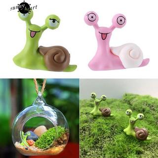 COD~Snail Garden Ornament Craft Dollhouse DIY Scenery