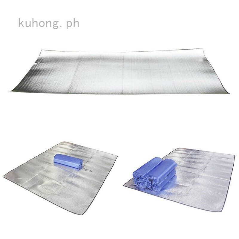 UK 2M Aluminum Foil Outdoor Beach Moistureproof Picnic Blanket Camping Mat Pad