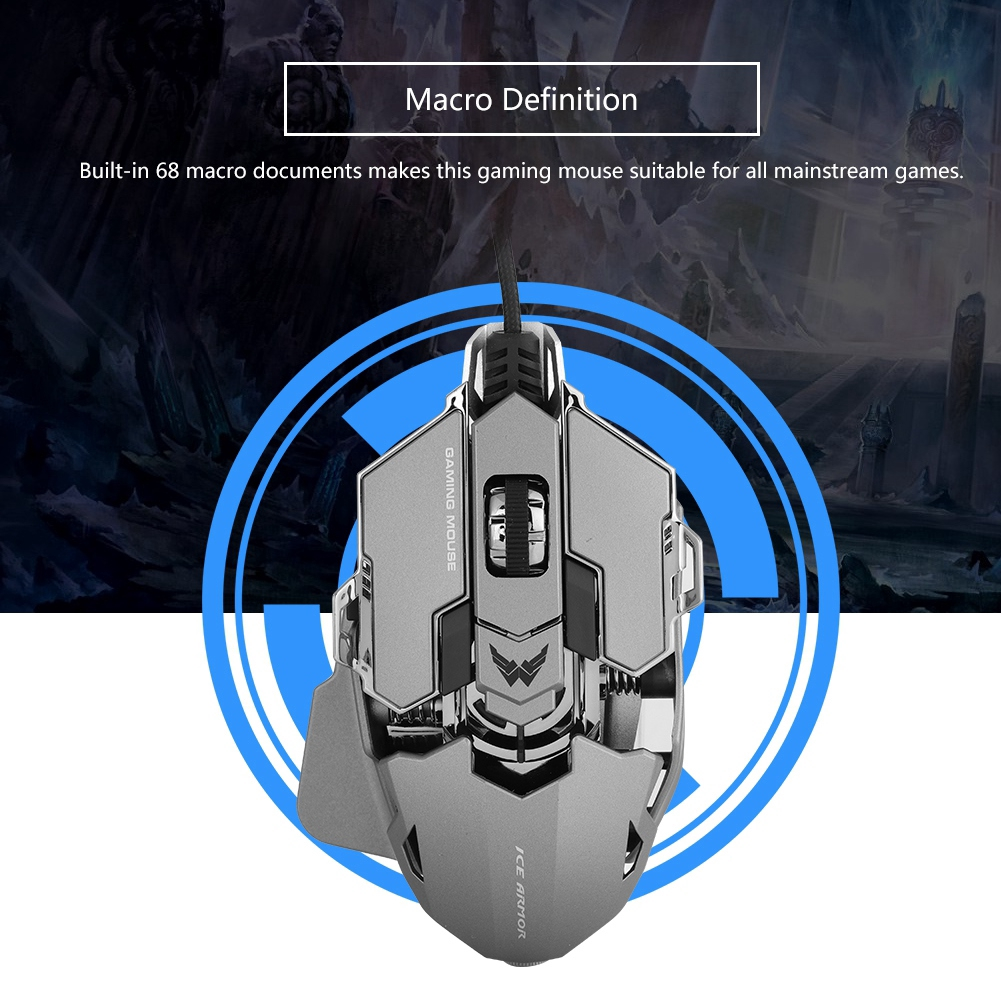 Macro Definition Gamer Mice Gaming Mouse for PUBG | Shopee