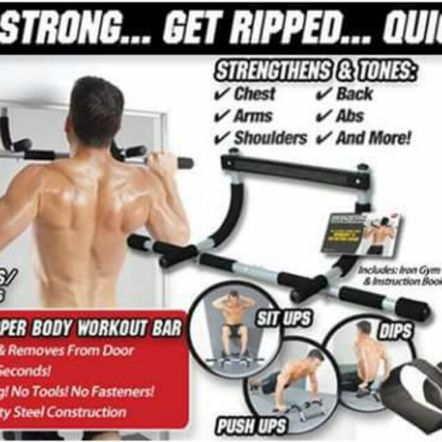 Total Upper Body Workout perfect for Pull-ups Push-ups Sit-ups Iron Gym