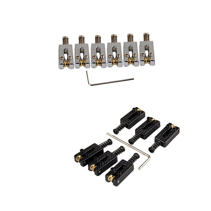6pcs Roller Bridge Tremolo Saddles 1pc w// Wrench For Tele Electric Guitar