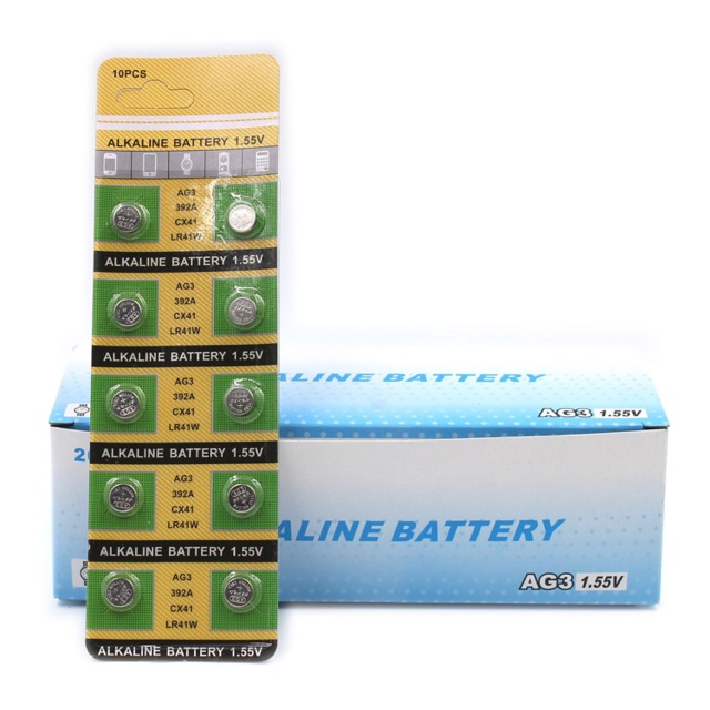 Fashiongo AG3/392A Battery LR41 Button LR736 192 1.55V Cell x Alkaline | Shopee Philippines