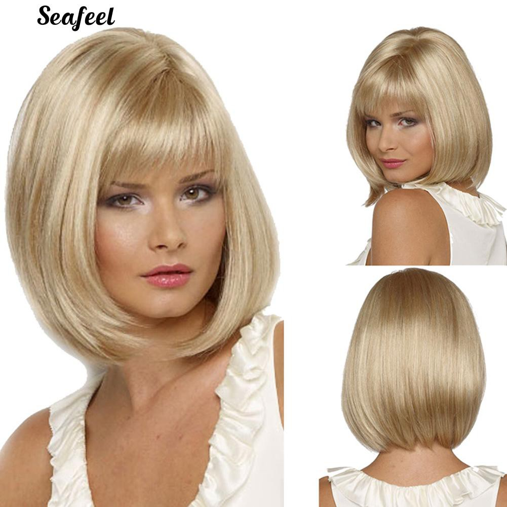 Women Short Straight Hair Cosplay Party Bob Style Hair Evening Party Wig Shopee Philippines